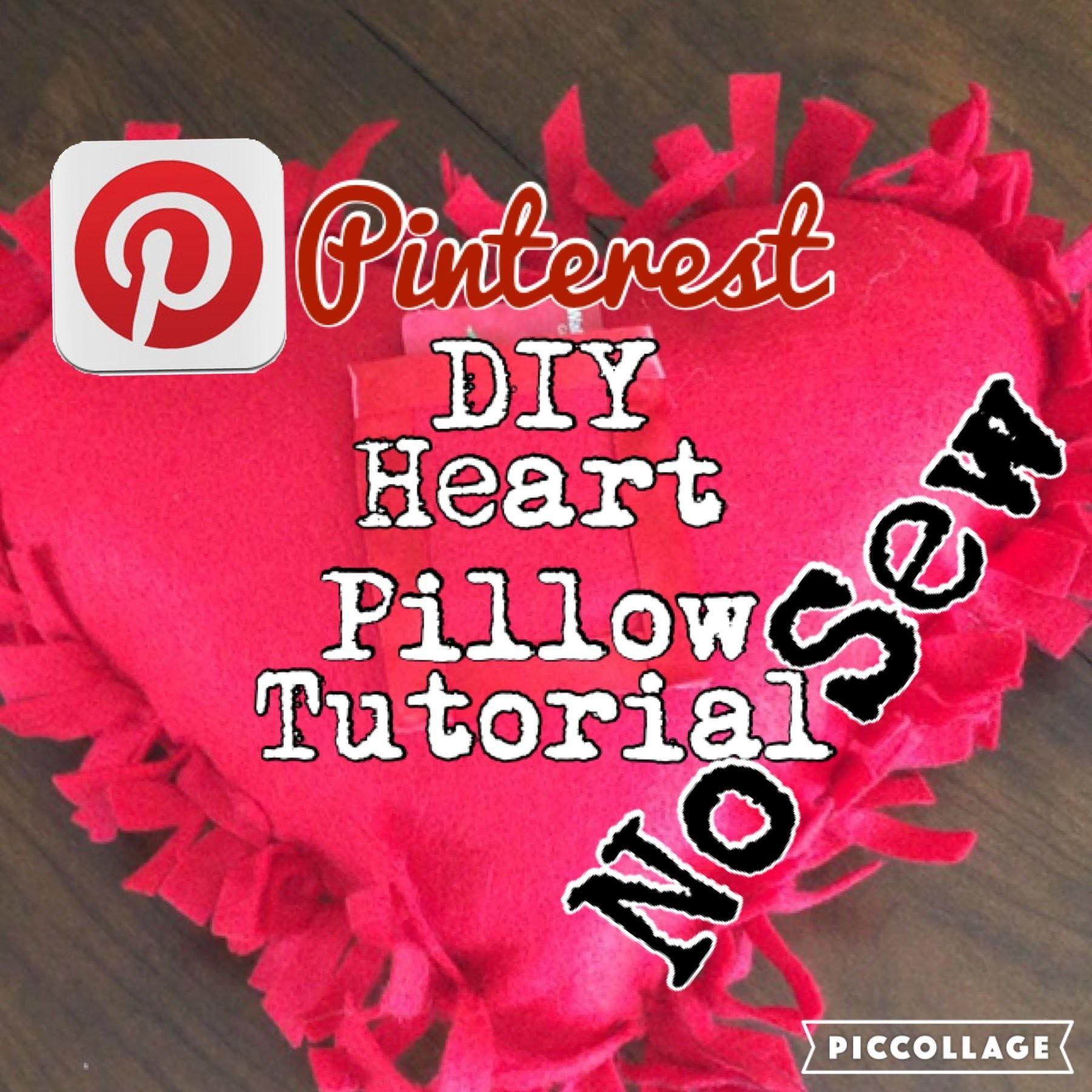 Sew Heart Pillow Diy Tutorial Teacher