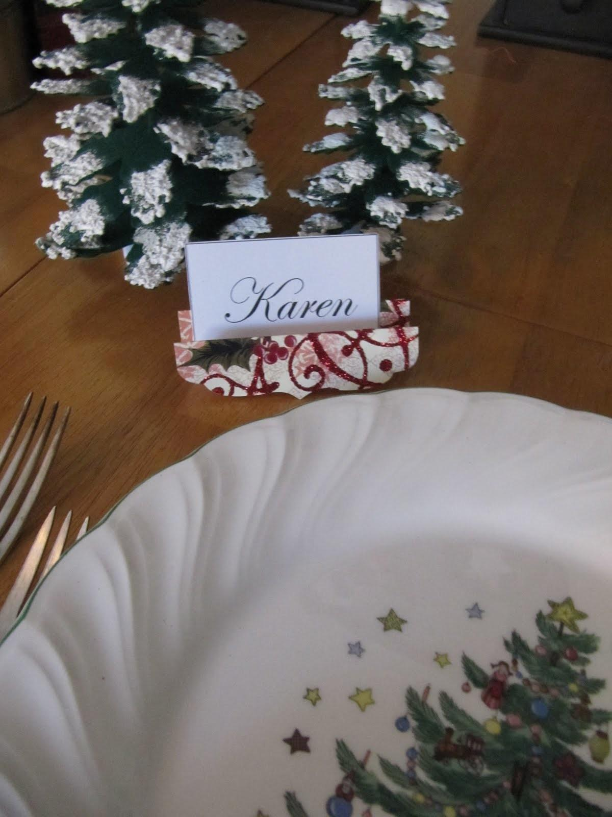 Sew Many Ways Tool Time Tuesday Holiday Place Card
