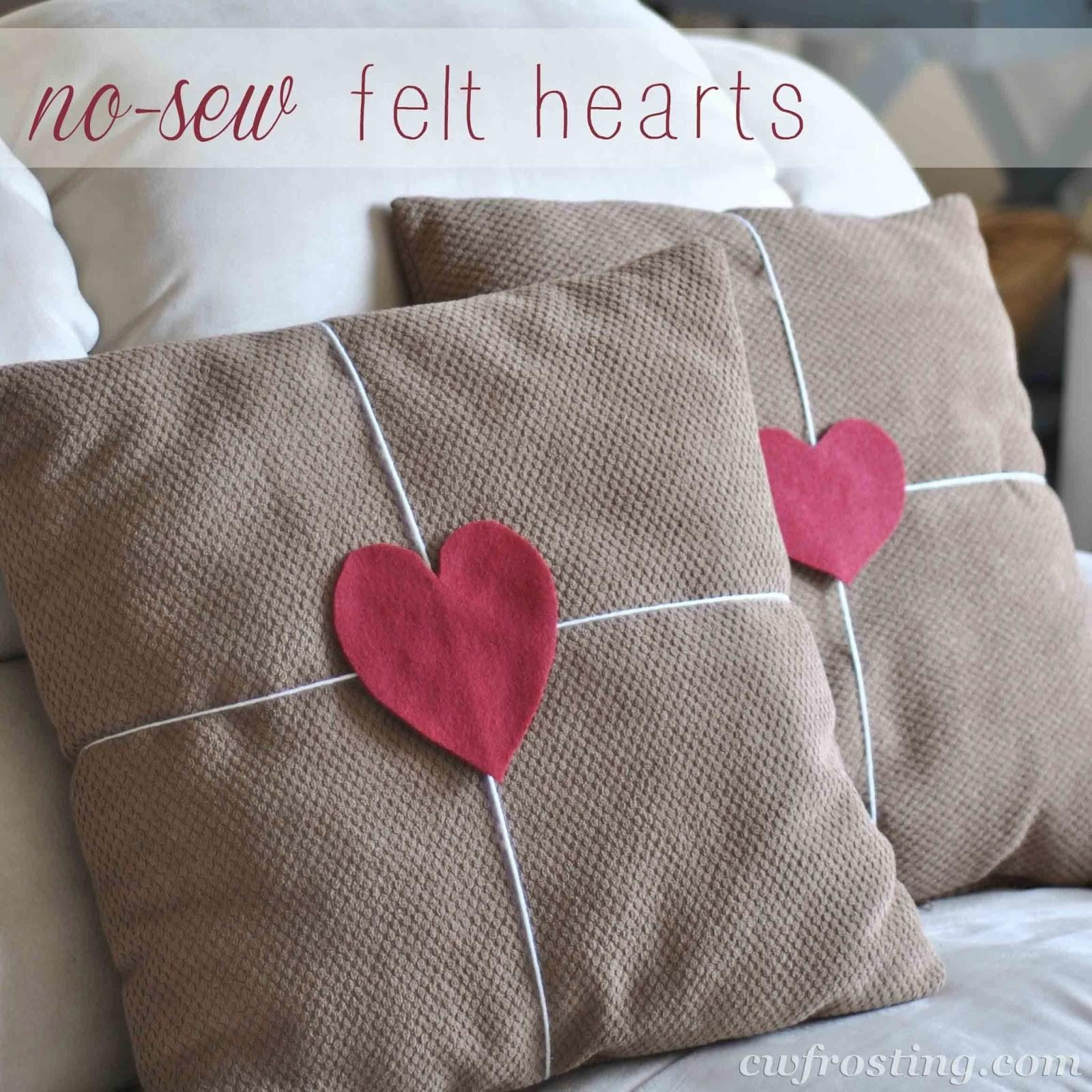 Sew Pillow Hearts Frosting
