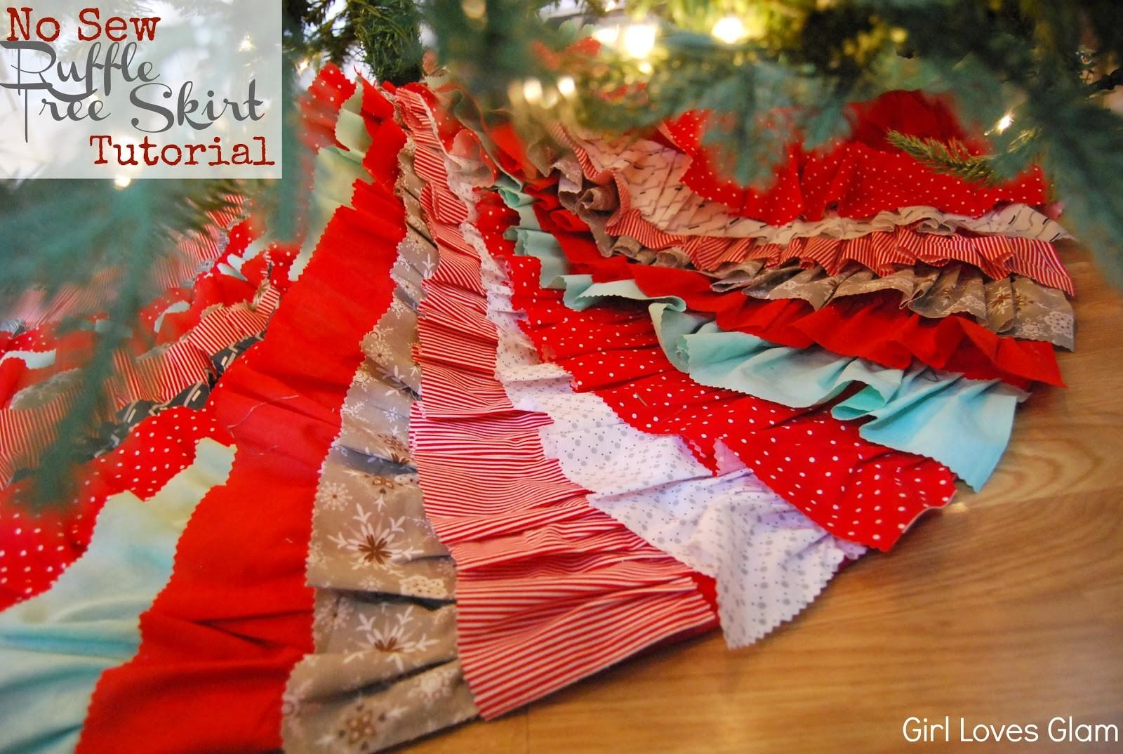 Sew Ruffle Tree Skirt Tutorial Ish Girl Loves Glam