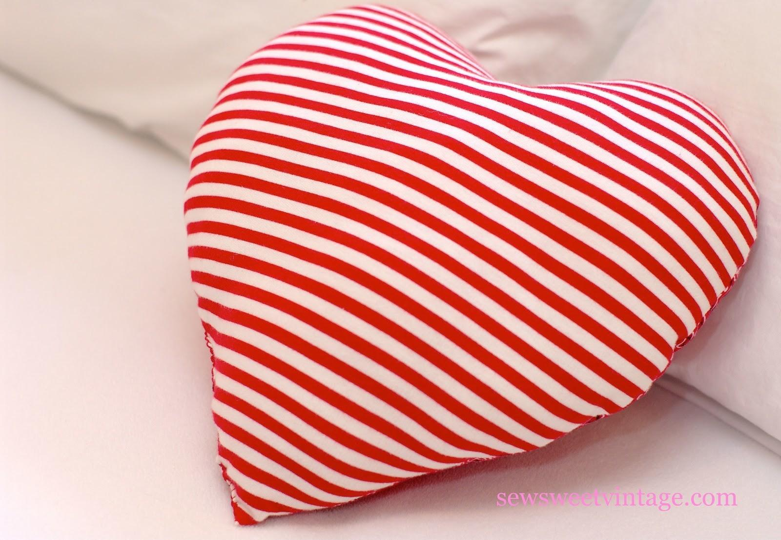 Sew Sweet Vintage Diy Heart Pillow
