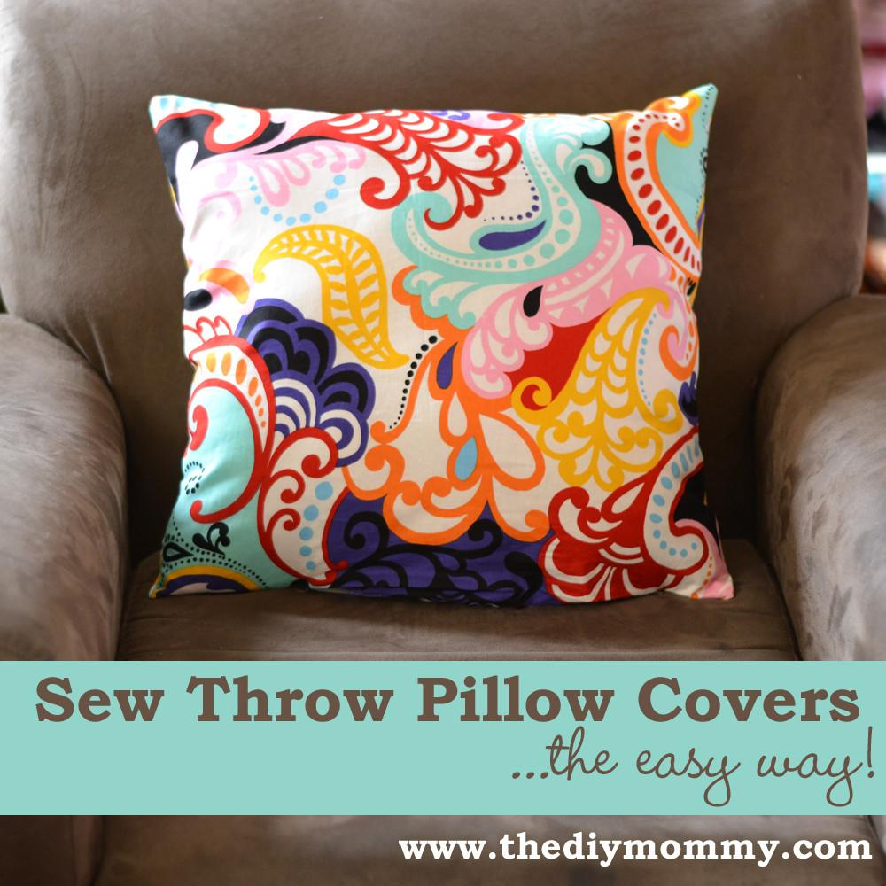 Sew Throw Pillow Cover Easy Way Diy Mommy
