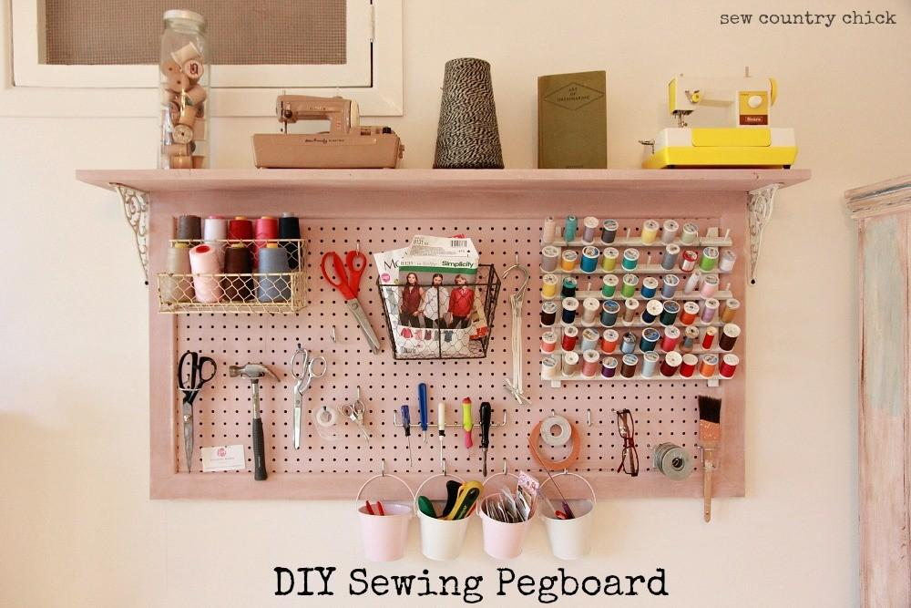 Sewing Room Redo Diy Pegboard Sew Country Chick