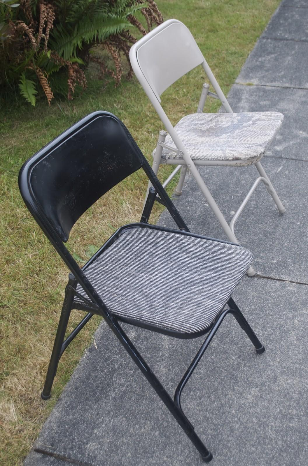Sewinmachine Metal Foling Chair Makeover
