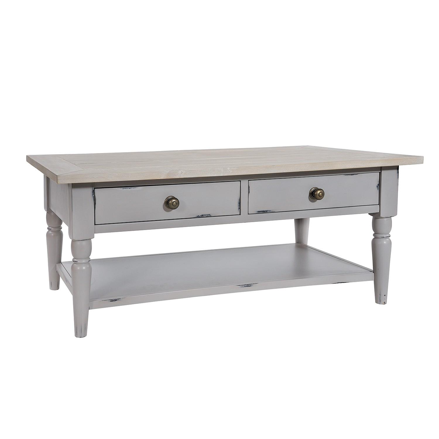 Shabby Chic Coffee Table Drawers Uneeka