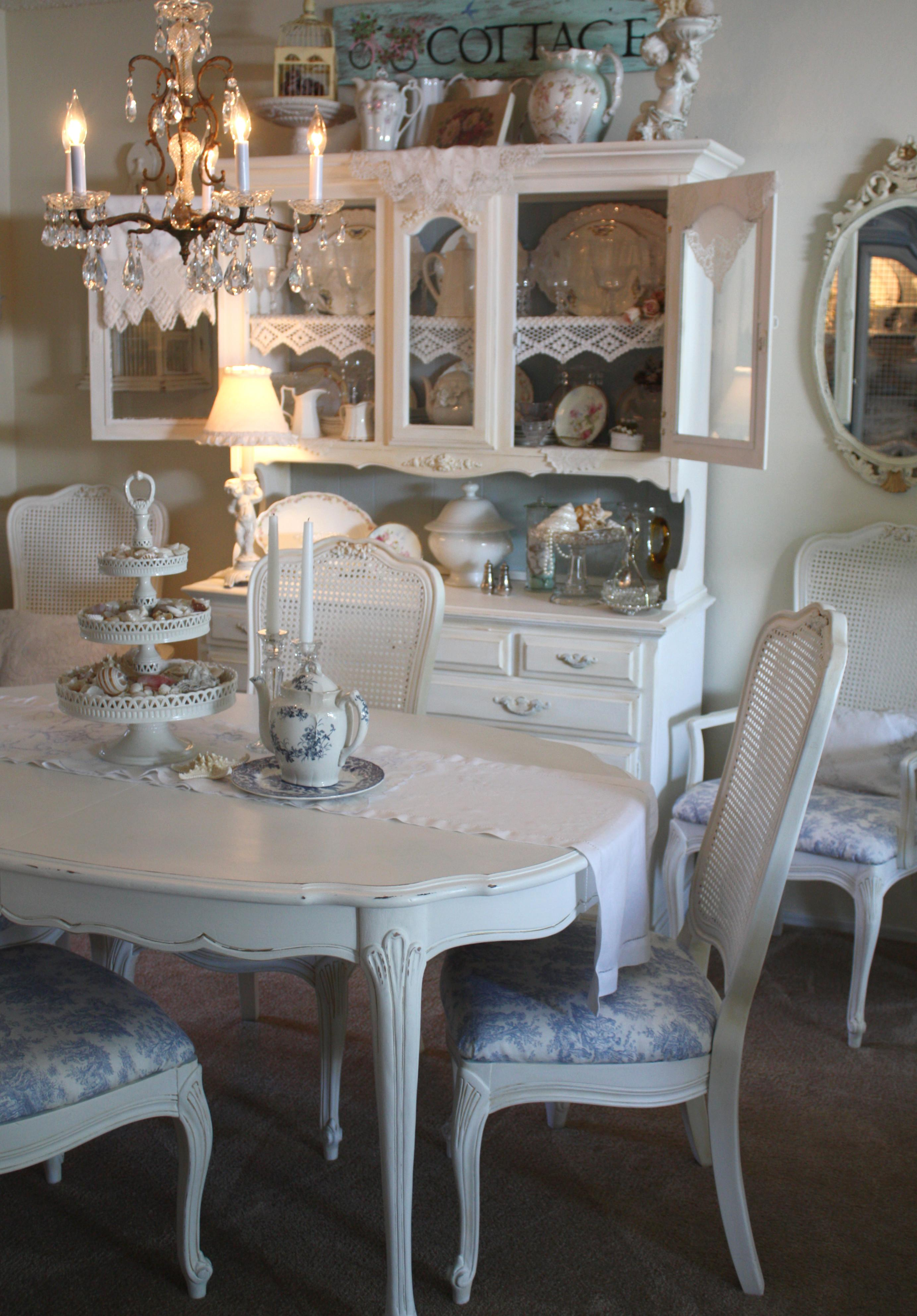 Shabby Chic Dining Recovered Room Chairs