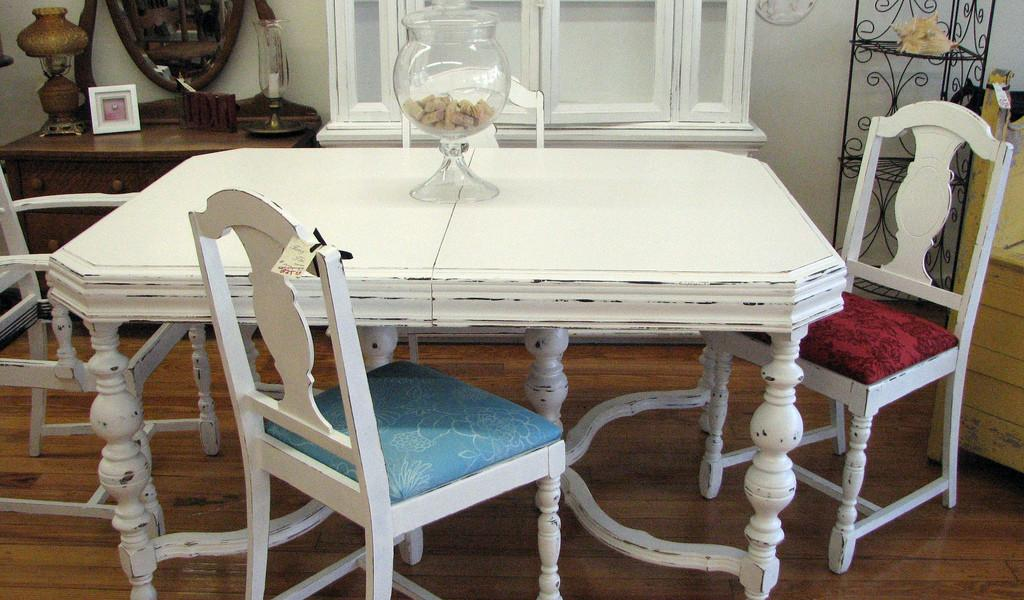 Shabby Chic Dining Room Table Chairs 225 Flickr