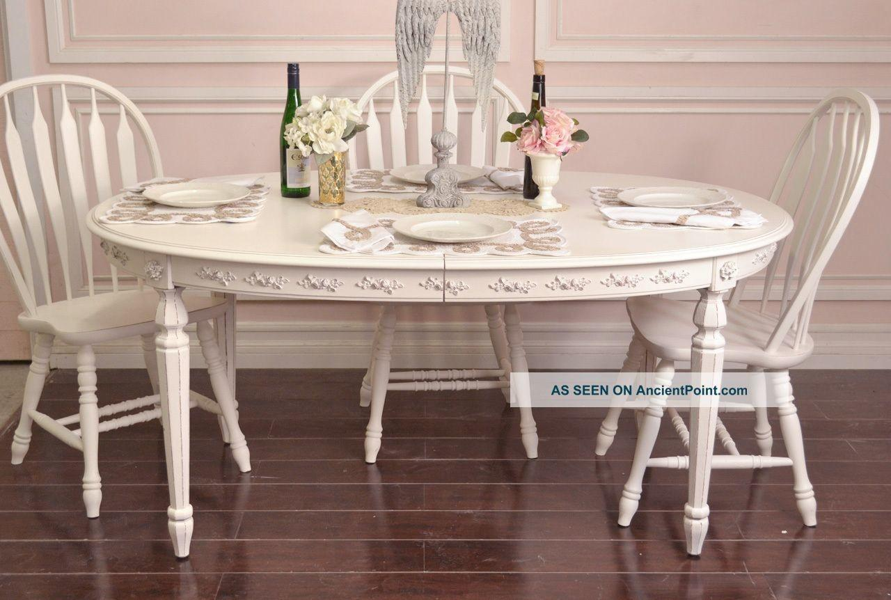 Shabby Chic Dining Room Table Chairs 9156 Family
