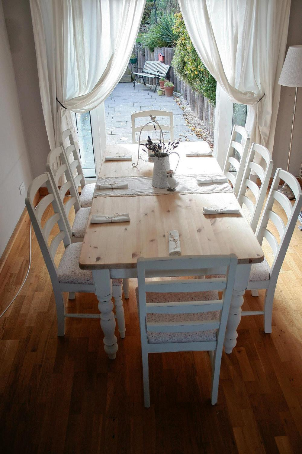 Shabby Chic Dining Room Table Large Beautiful Photos