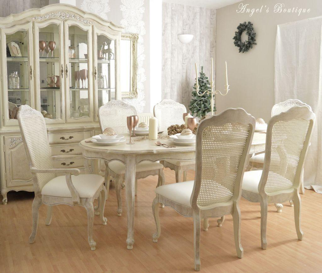 Shabby Chic White Dining Table Chairs Second Hand