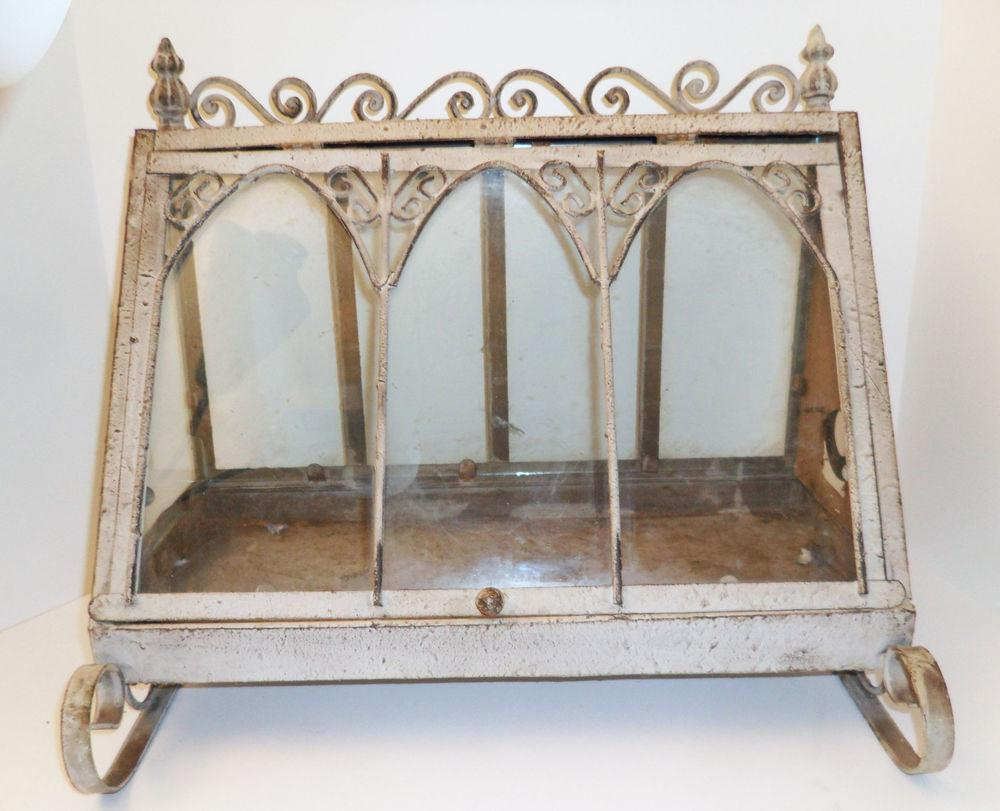Shabby French Chic Victorian Style Terrarium Tabletop