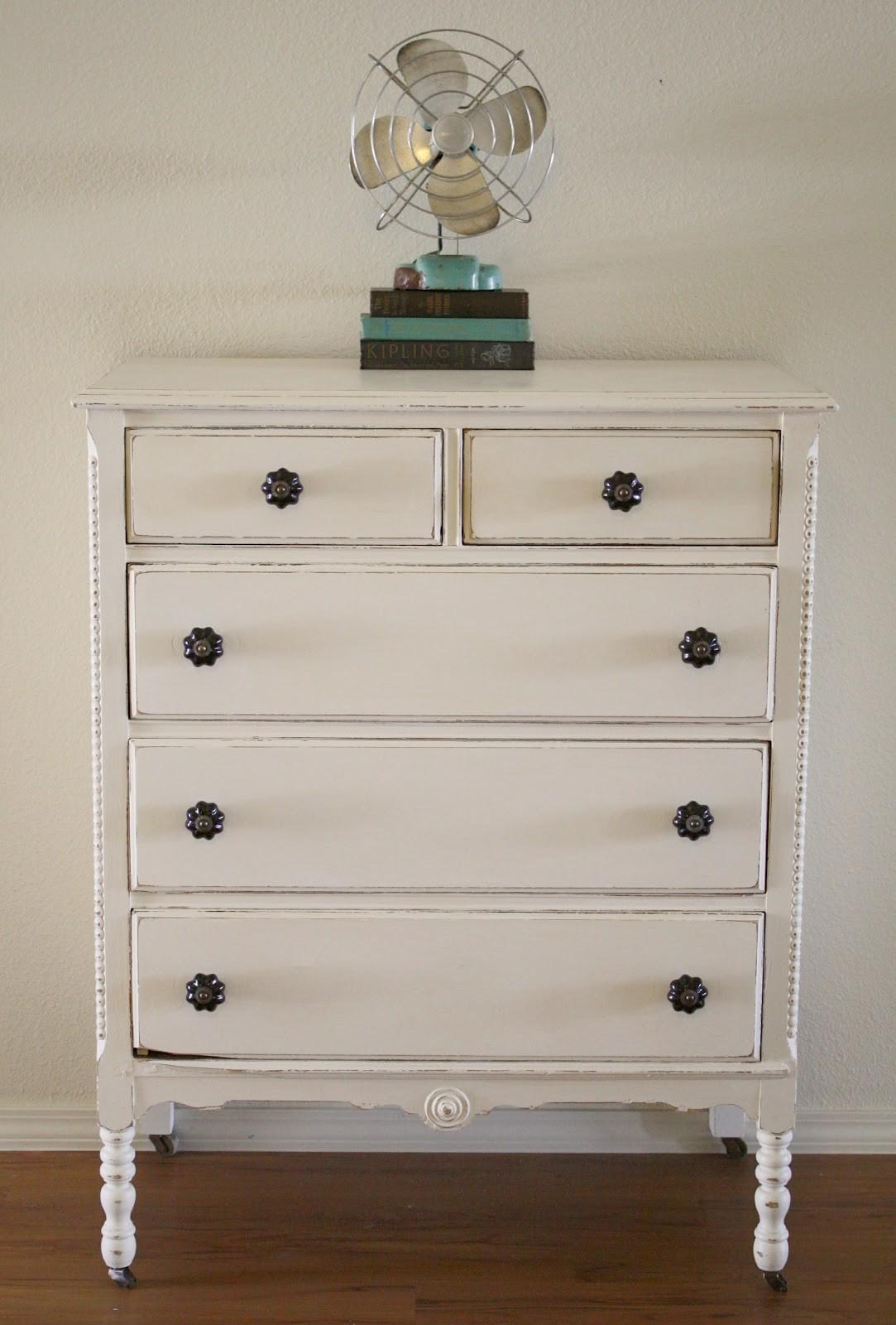 Shabby White Dresser Chalk Paint