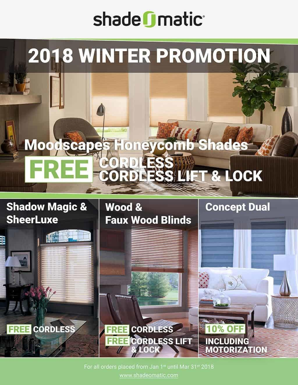 Shade Matic 2018 Winter Promotion Newcastle Home Decor