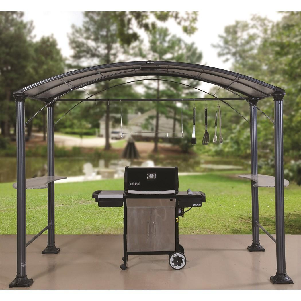 Shade Trends Gzs 101ft Grill Gazebo Hammered Pewter