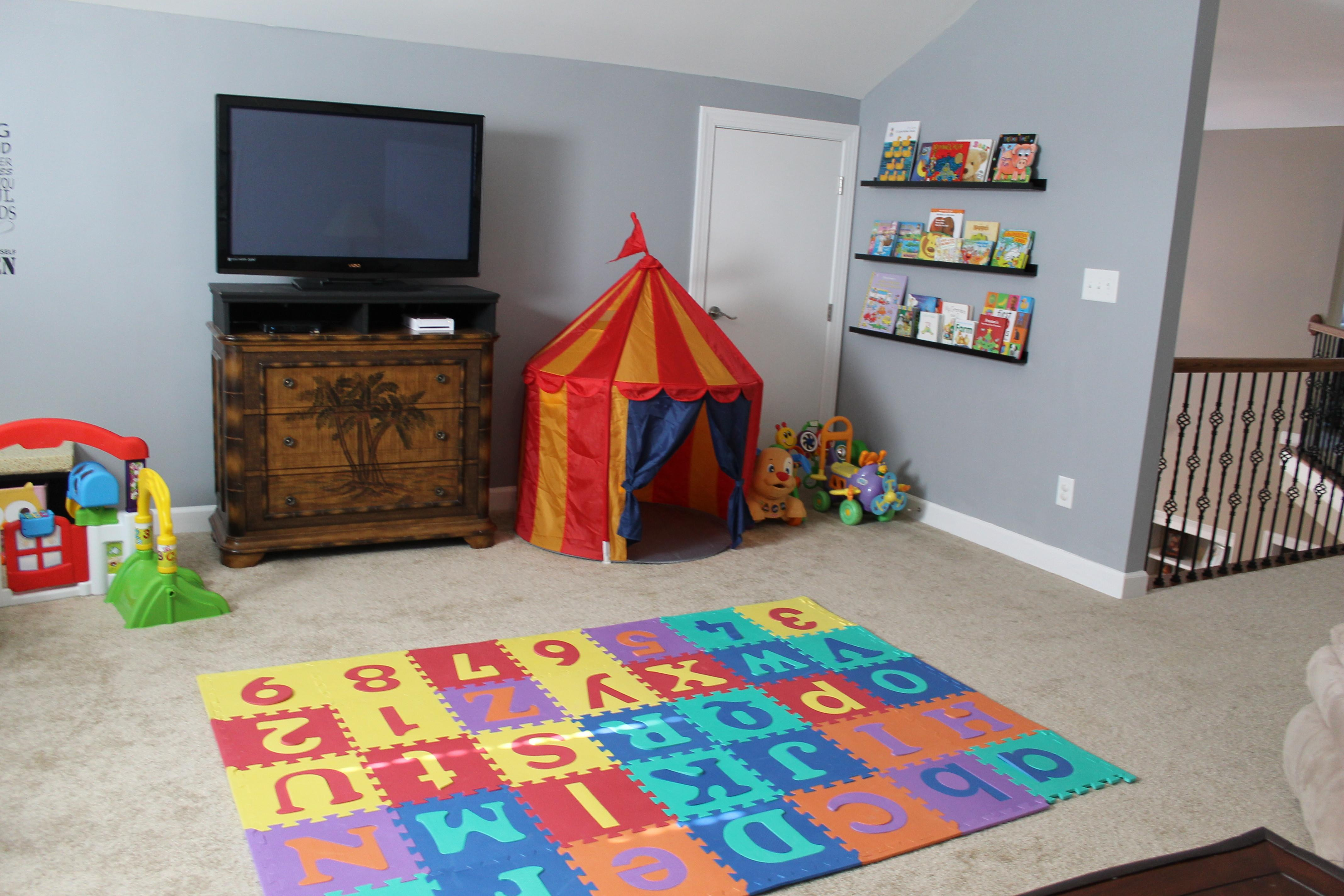 Shades Blue Kids Room Wall Color Scheme Colorful