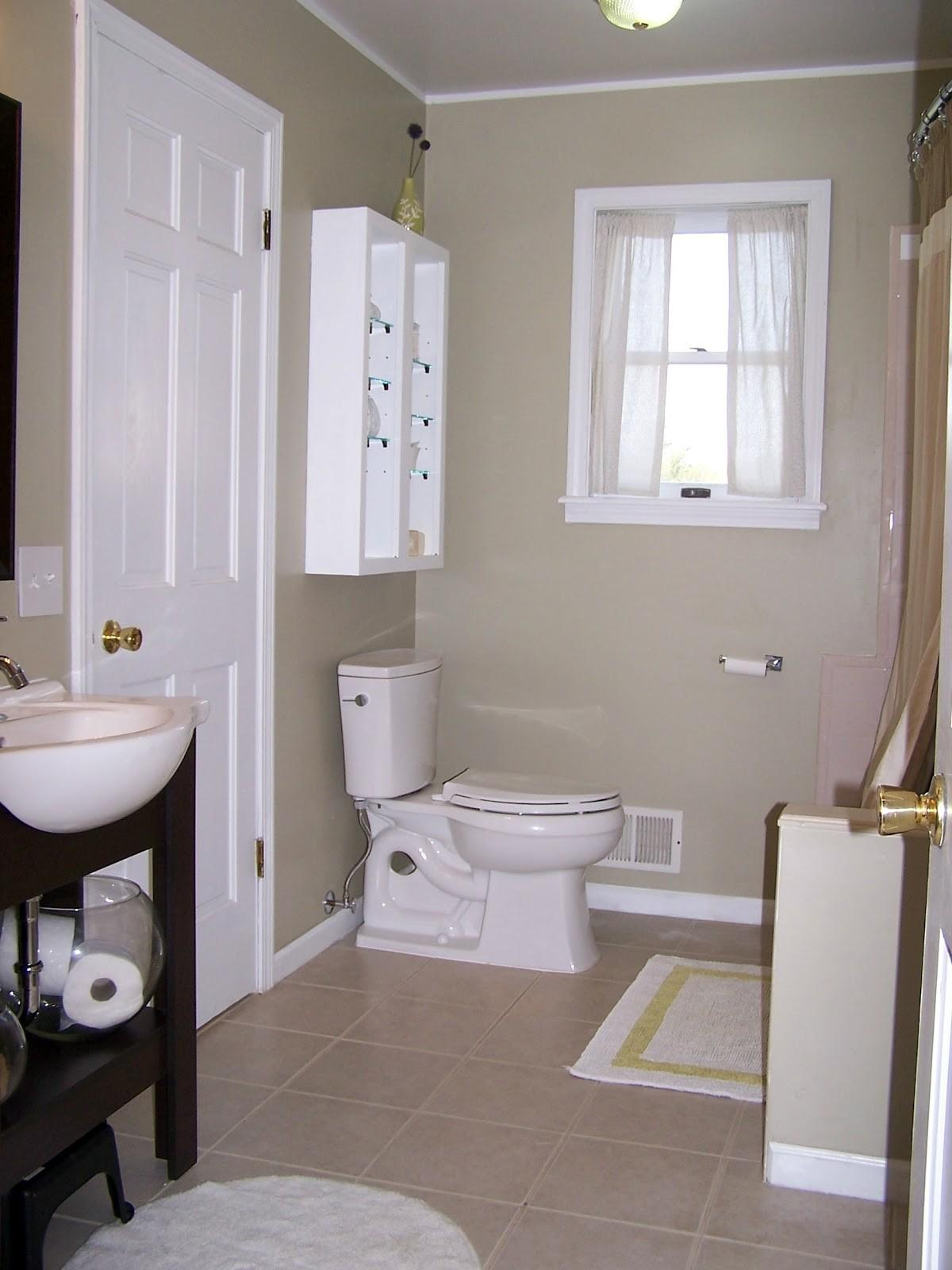 Shades Gray Accent Wall Colors Schemes Small Bathroom