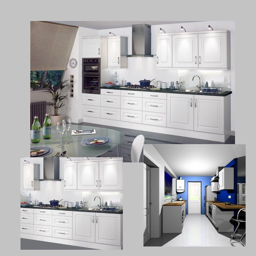 Shaker White Modern Classic Kitchen Complete Fitted Units