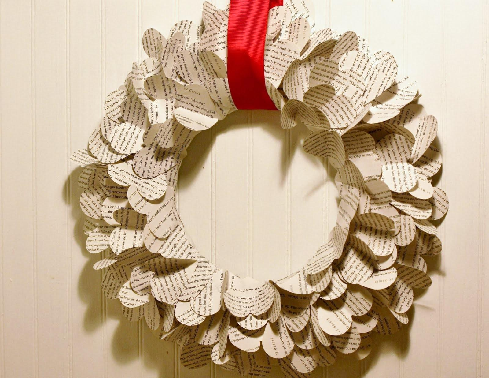 Shannan Martin Writes Diy Heart Punch Magazine Book Wreaths
