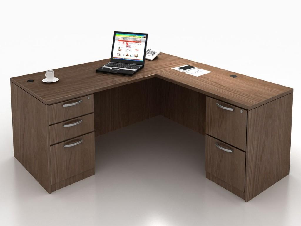 Shaped Desk Small Space Amys Office Pertaining