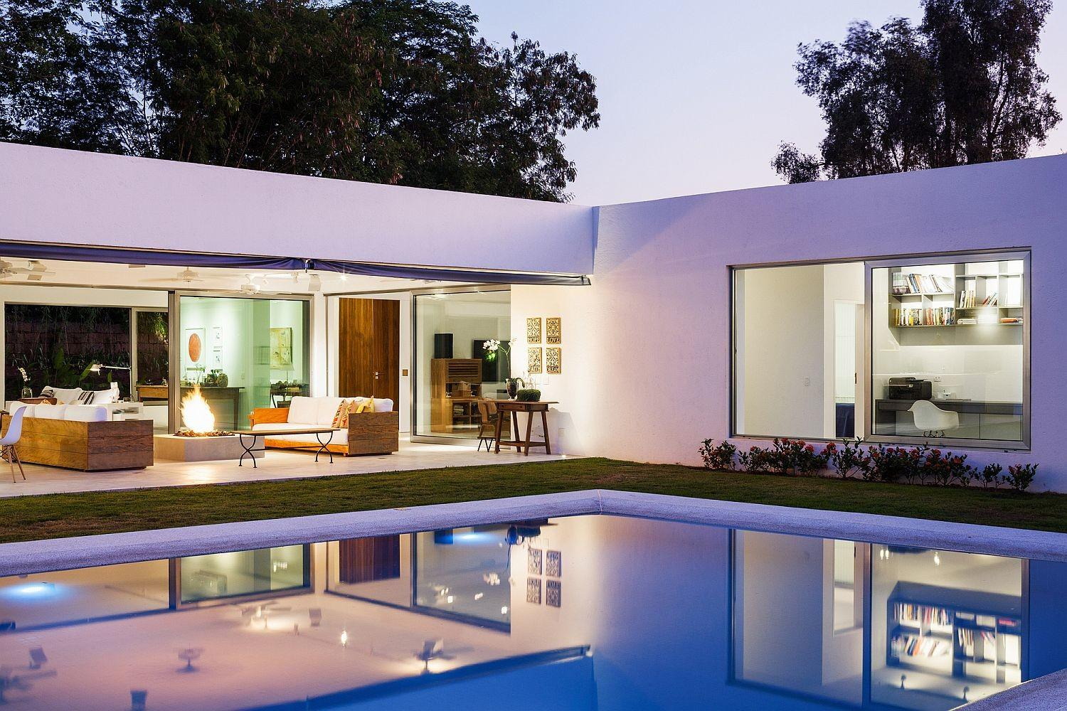 Shaped Family Home Charms Stunning Private