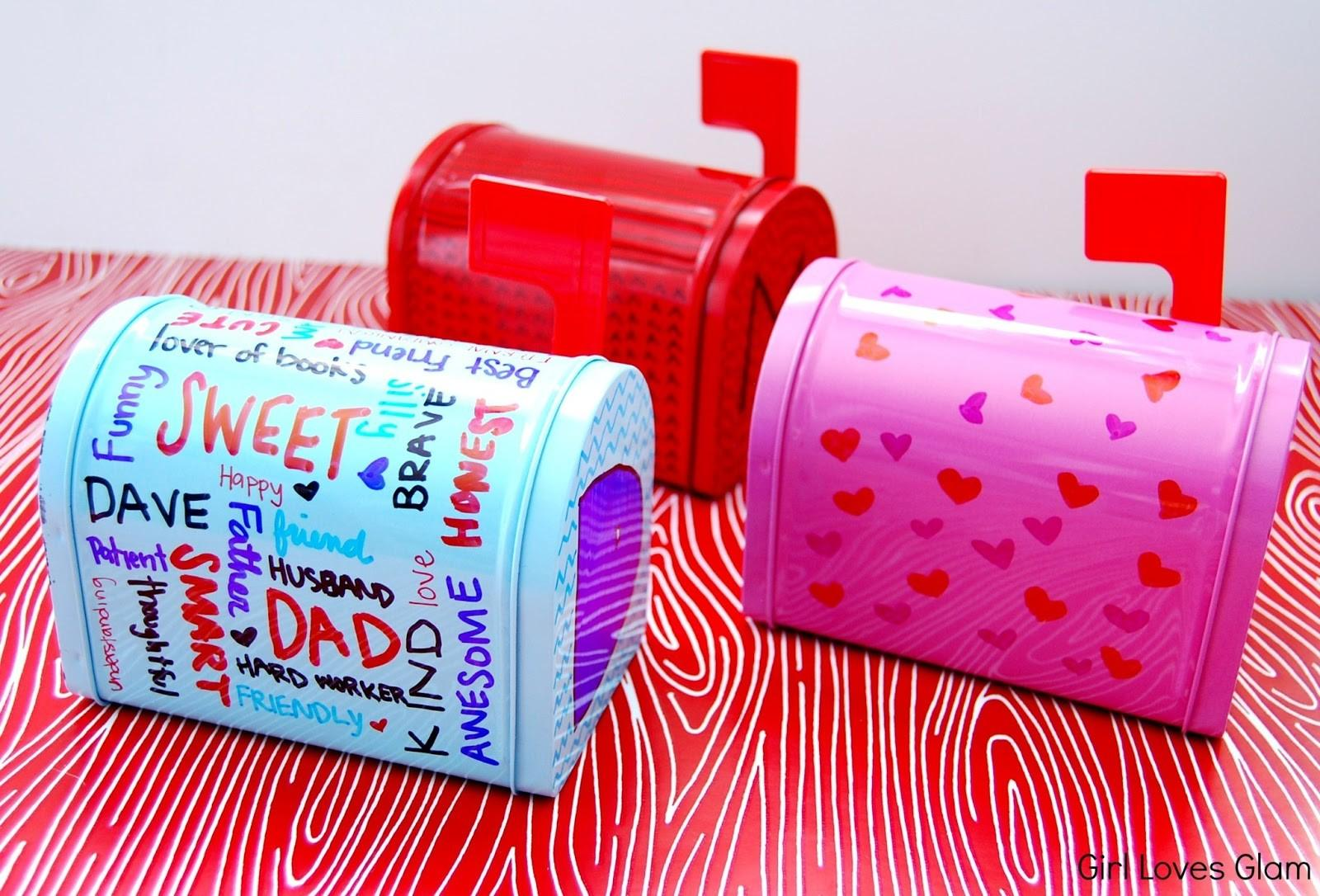 Sharpie Decorated Valentine Day Mailboxes Girl Loves Glam