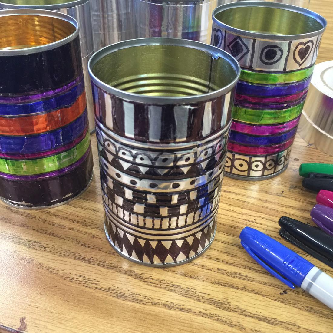 Sharpies Tin Cans Art Projects Kids