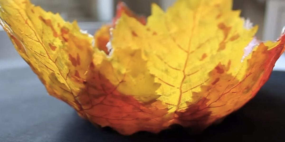 She Makes Simple Fall Bowl Leaves Her