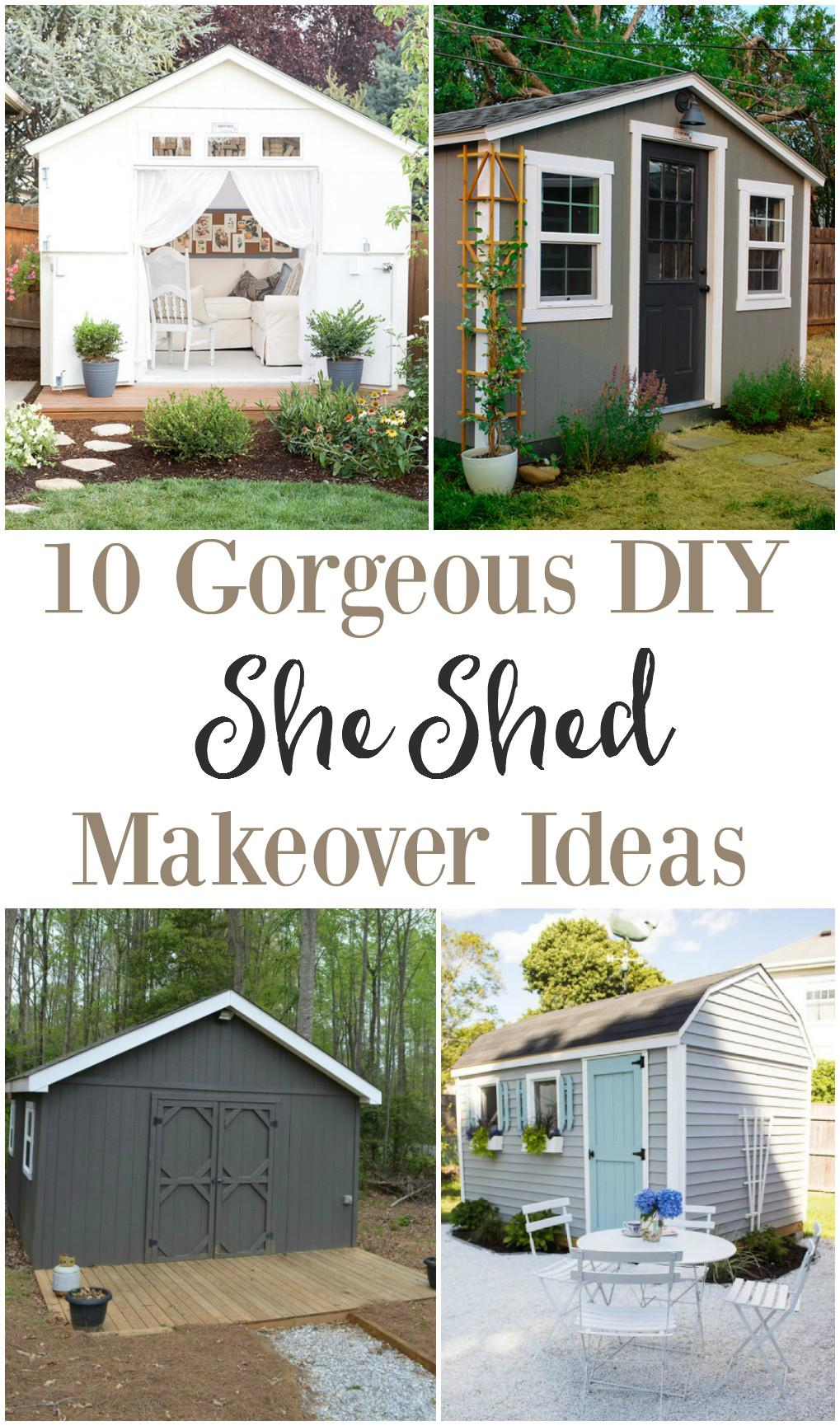 She Shed Makeover Ideas Weathered Fox