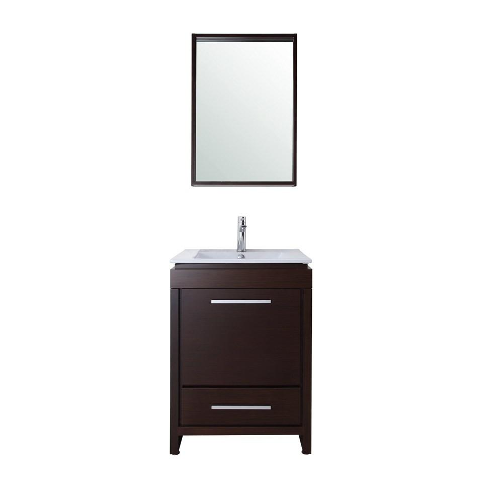Sheldon Inch Contemporary Single Sink Bathroom Vanity