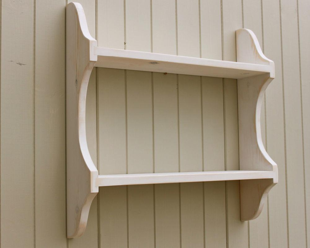 Shelf Shabby Chic Wall Rack Bookshelf Vintage