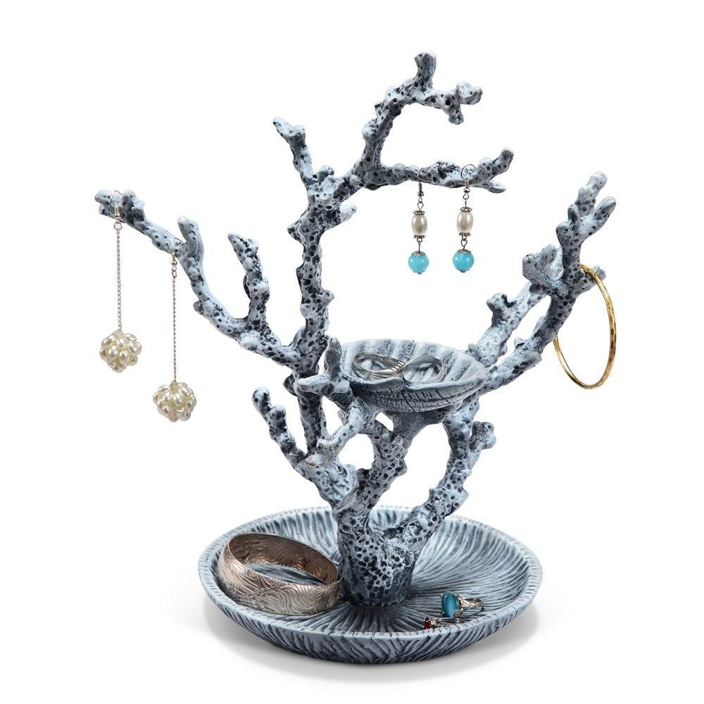 Shell Coral Jewelry Holder Ring Display Stand Coastal