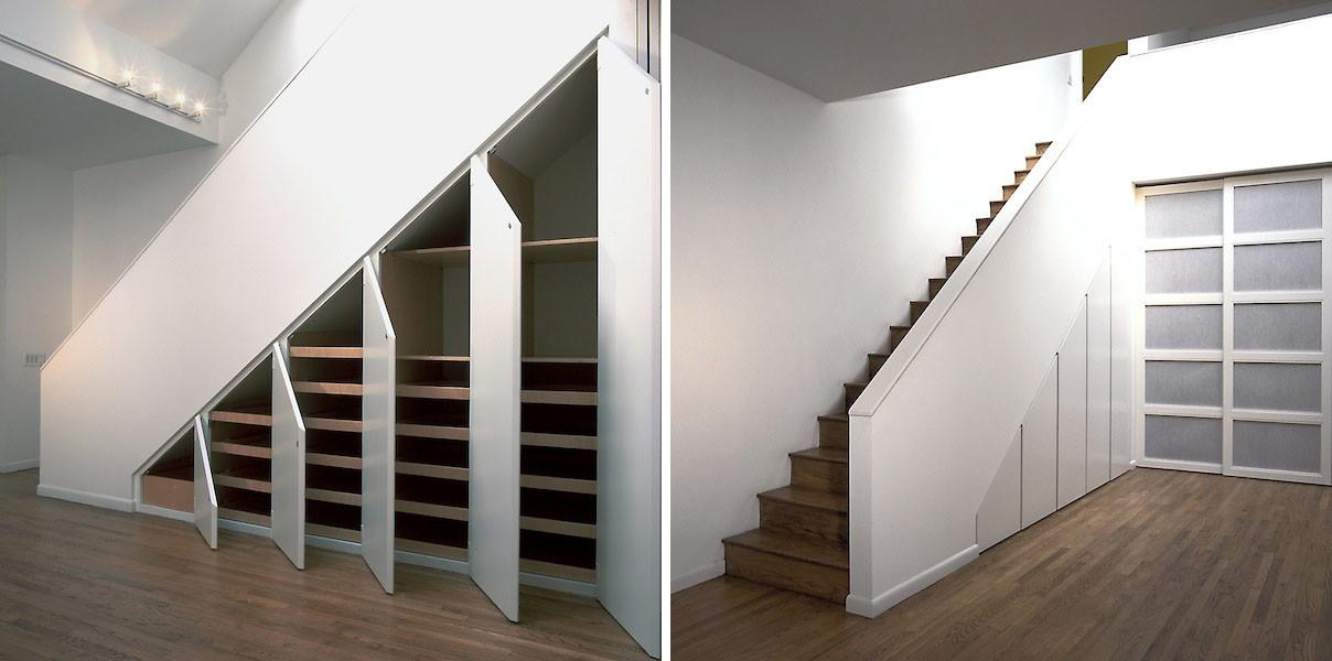 Shelves Under Stairs Home Design