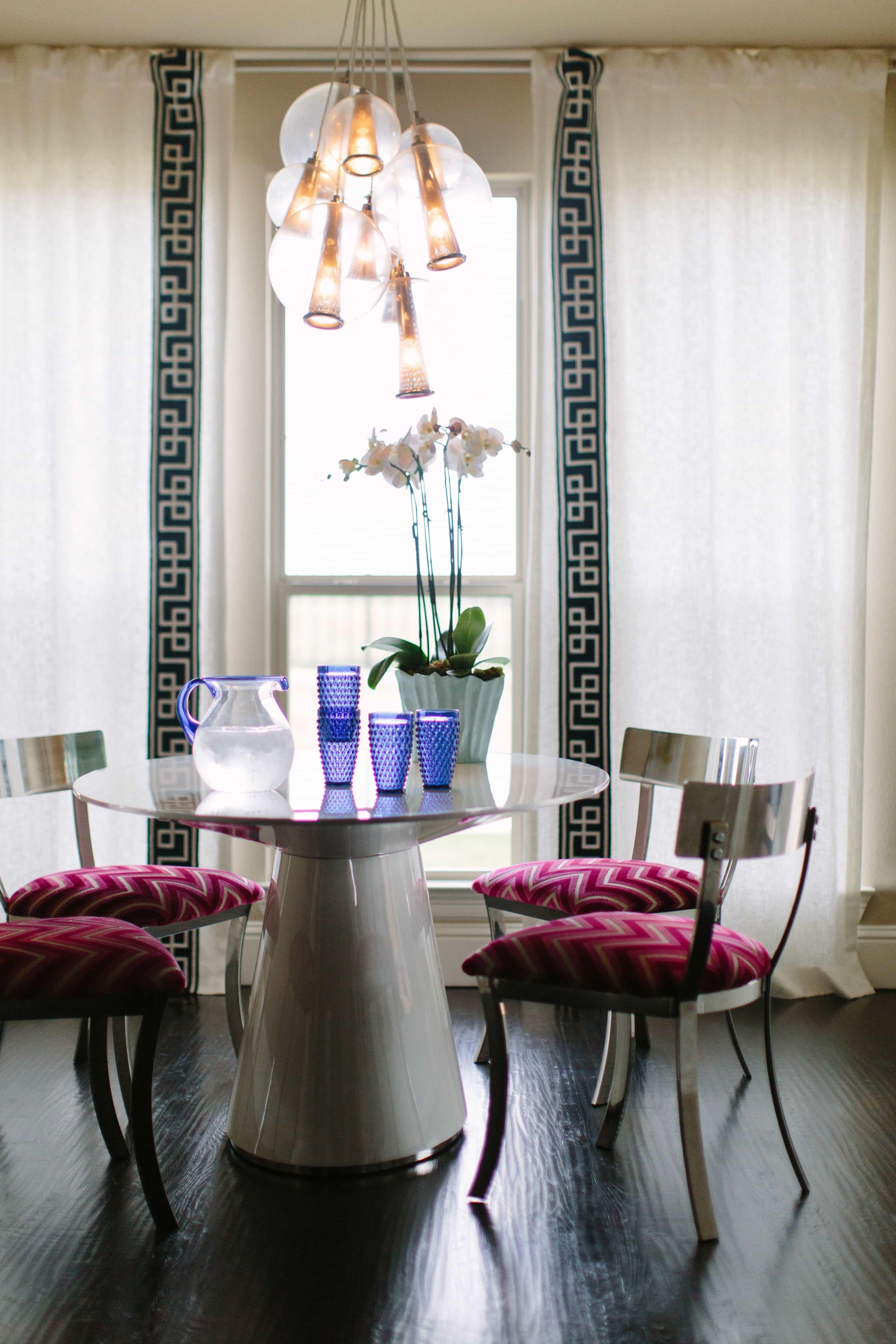 Shiny Metal Chairs Polished Table Art Decor Dining