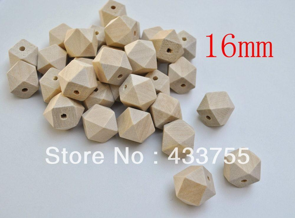 Shipping 100pcs Lot 16mm Natural Unfinished