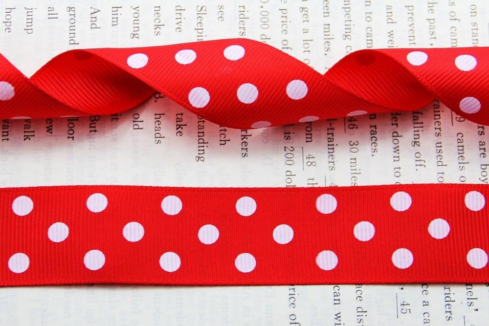 Shipping 25mm Grosgrain Ribbon Polka