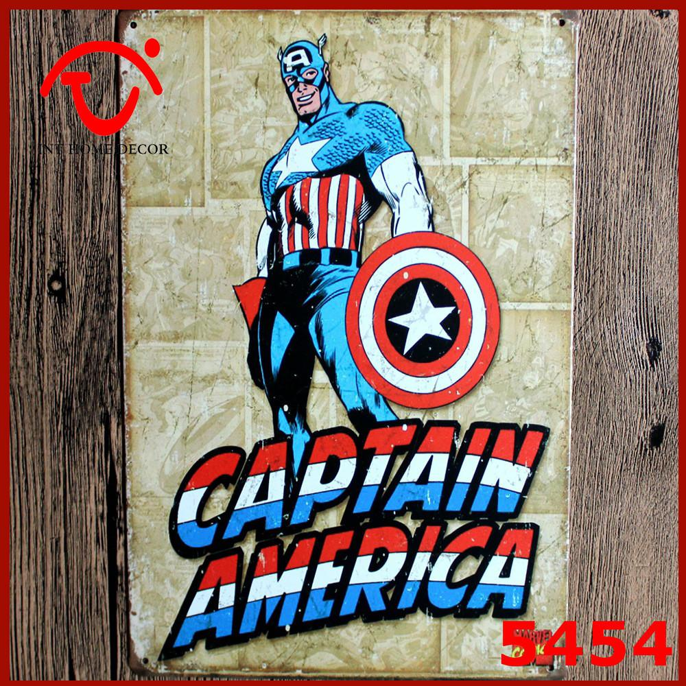 Shipping Antique Imitation Metal Signs Captain