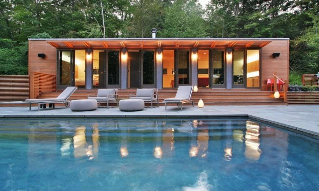 Shipping Container Pool House Design