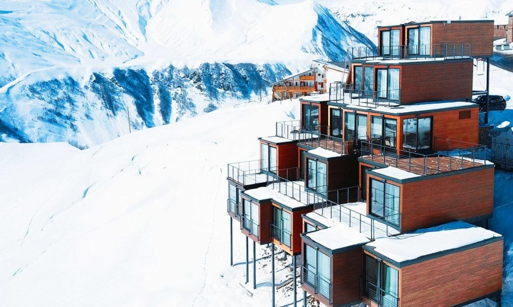 Shipping Container Ski Resort Tucked Into Georgian
