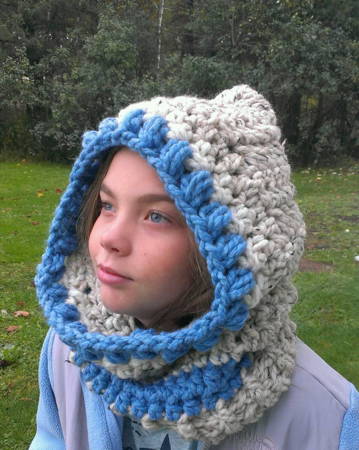 Shipping Crochet Cozy Hooded Cowl Scarf Neck