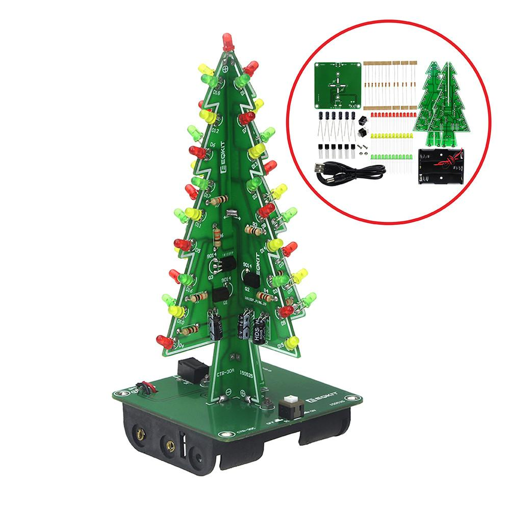 Shipping Three Dimensional Christmas Tree Led Diy