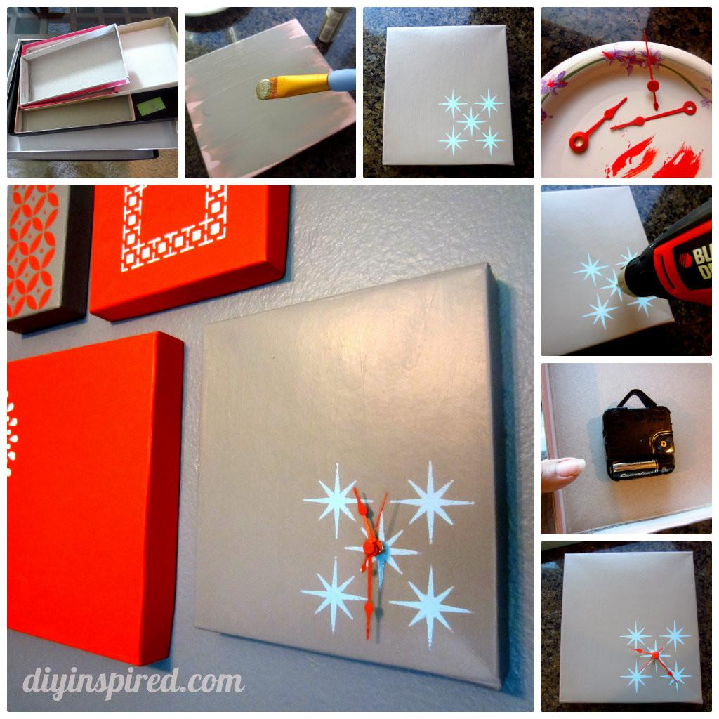 Shoe Box Lid Clock Diy Inspired