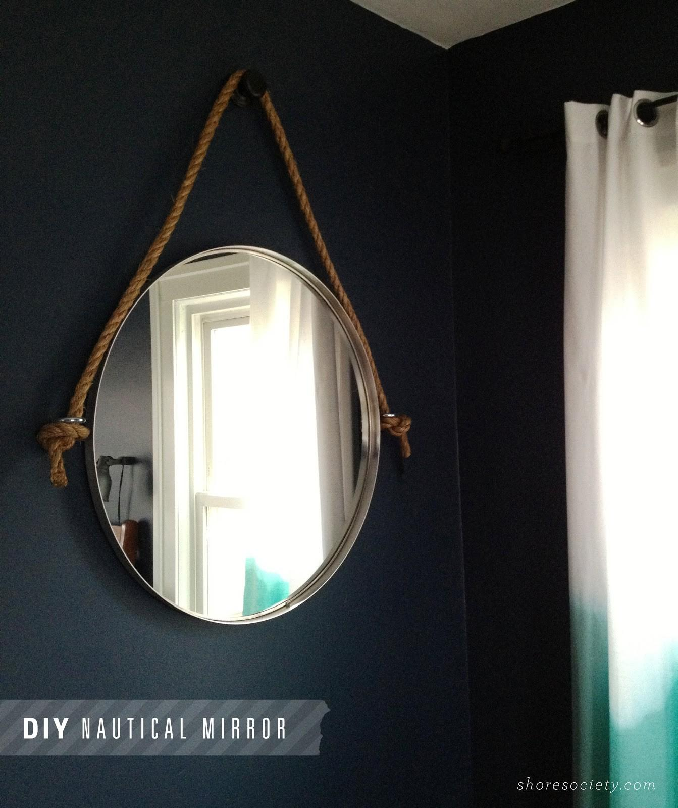 Shore Society Diy Nautical Rope Mirror