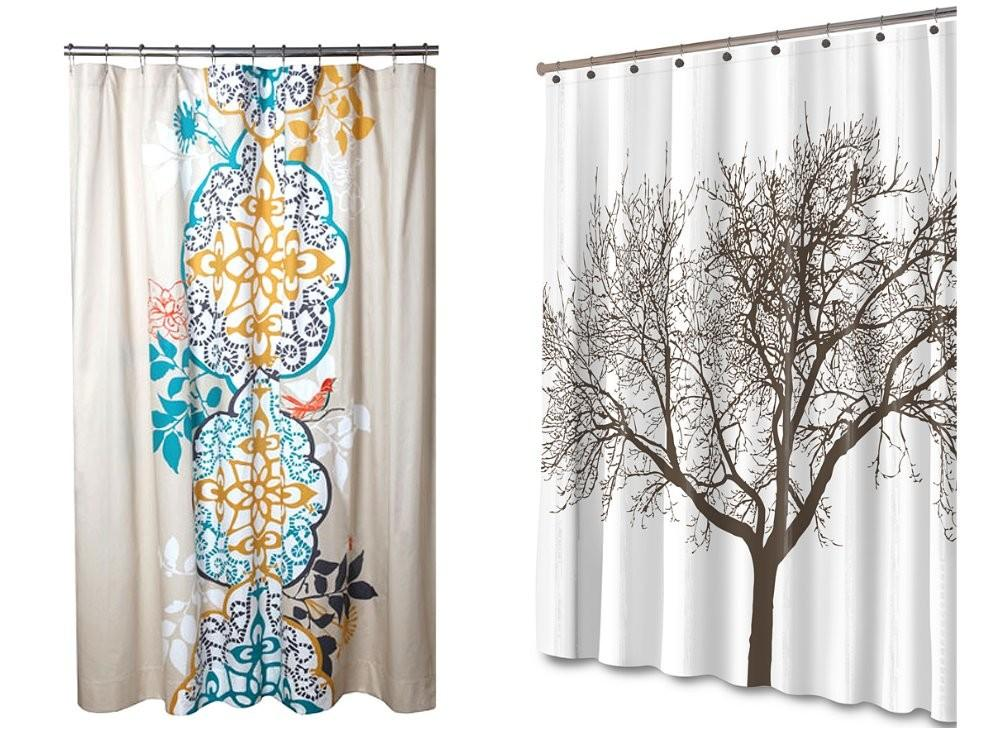 Shower Curtains Fabric Target Contemporary