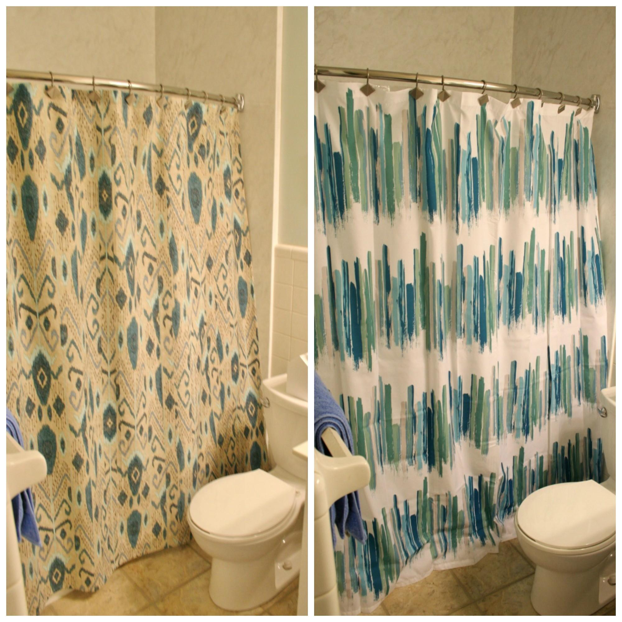 Shower Curtains Ikat Colorful Modern