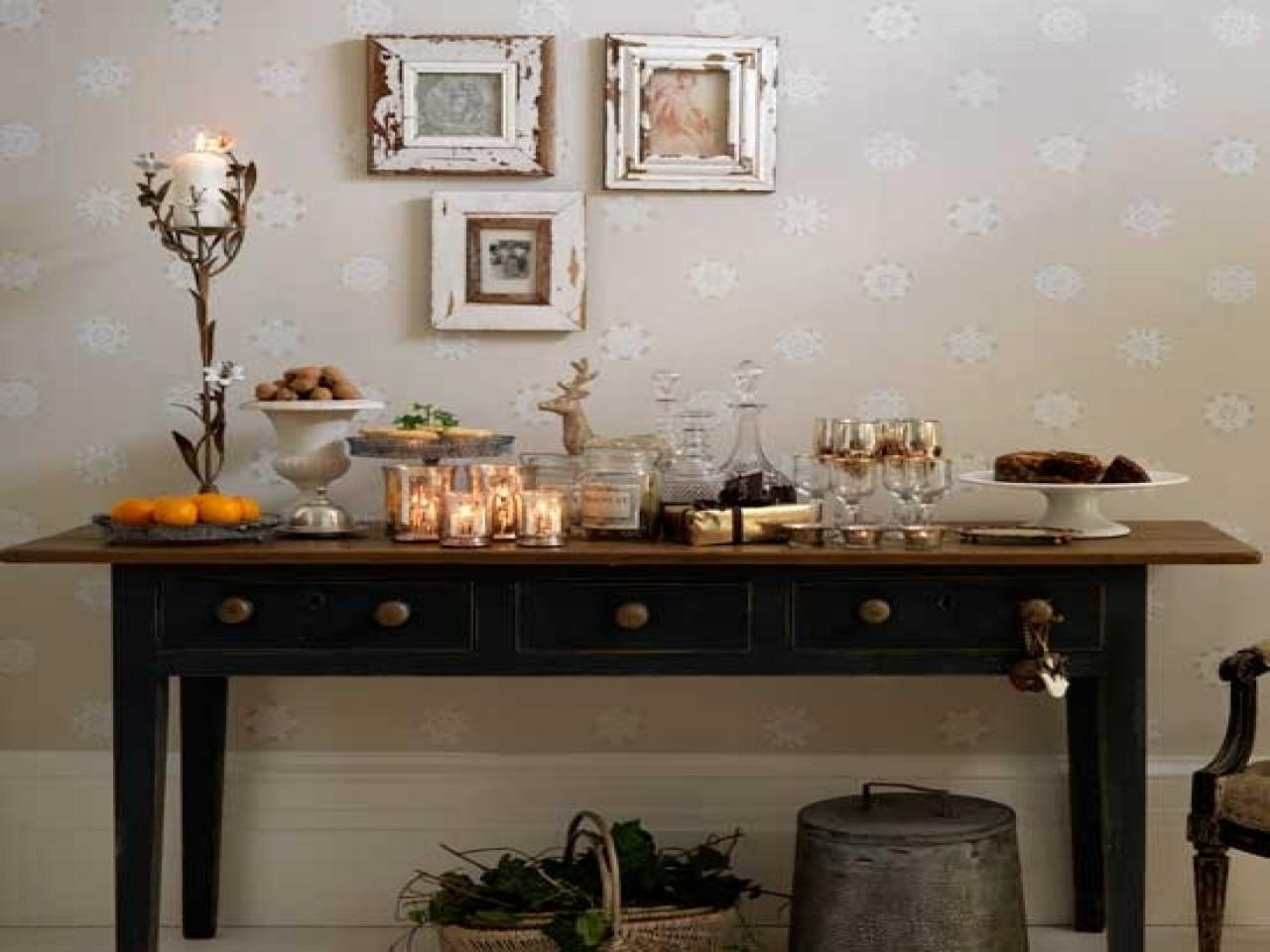 Side Table Dining Room Decorating Idea Inexpensive Amazing