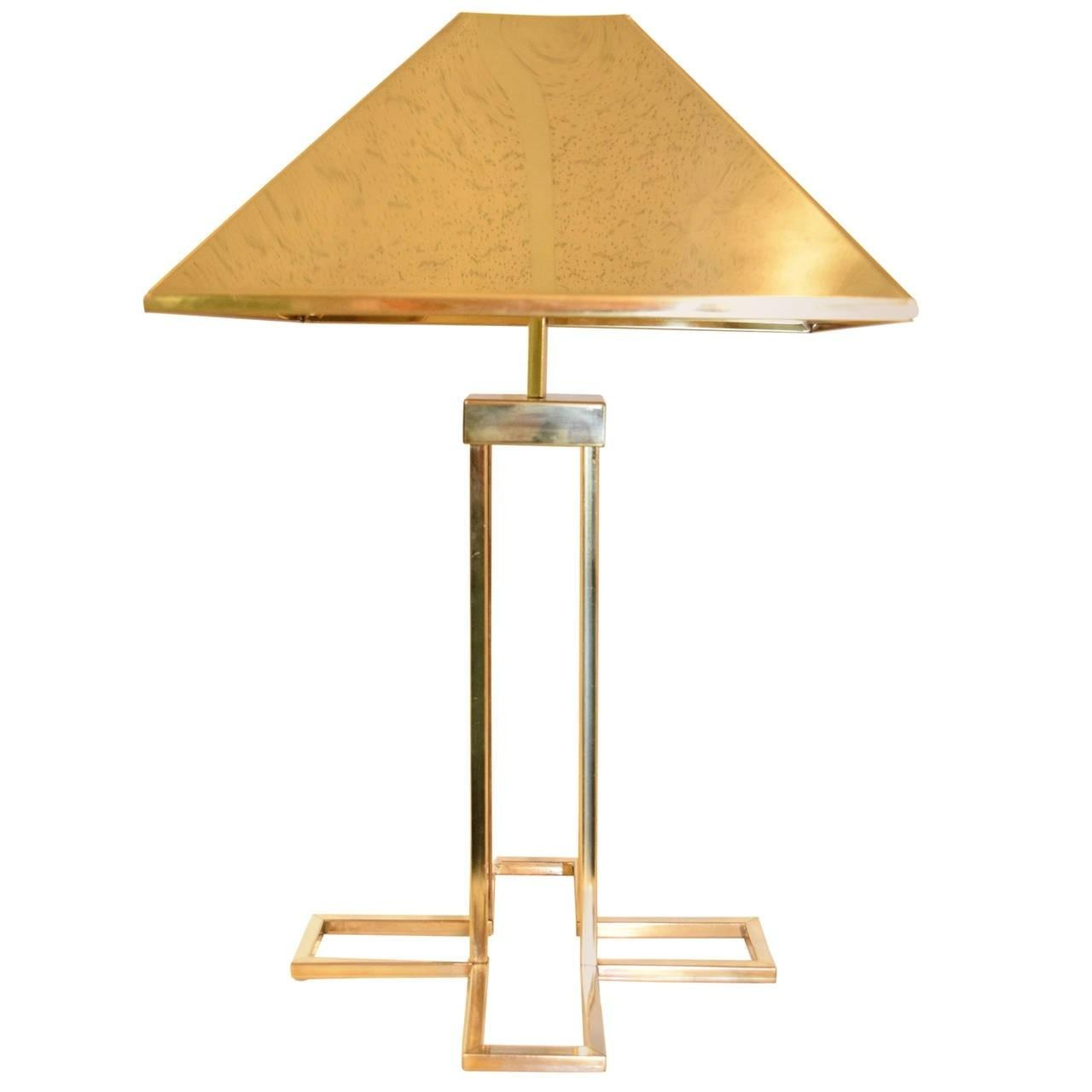 Signed Curtis Jere Brass Table Lamp Sale 1stdibs