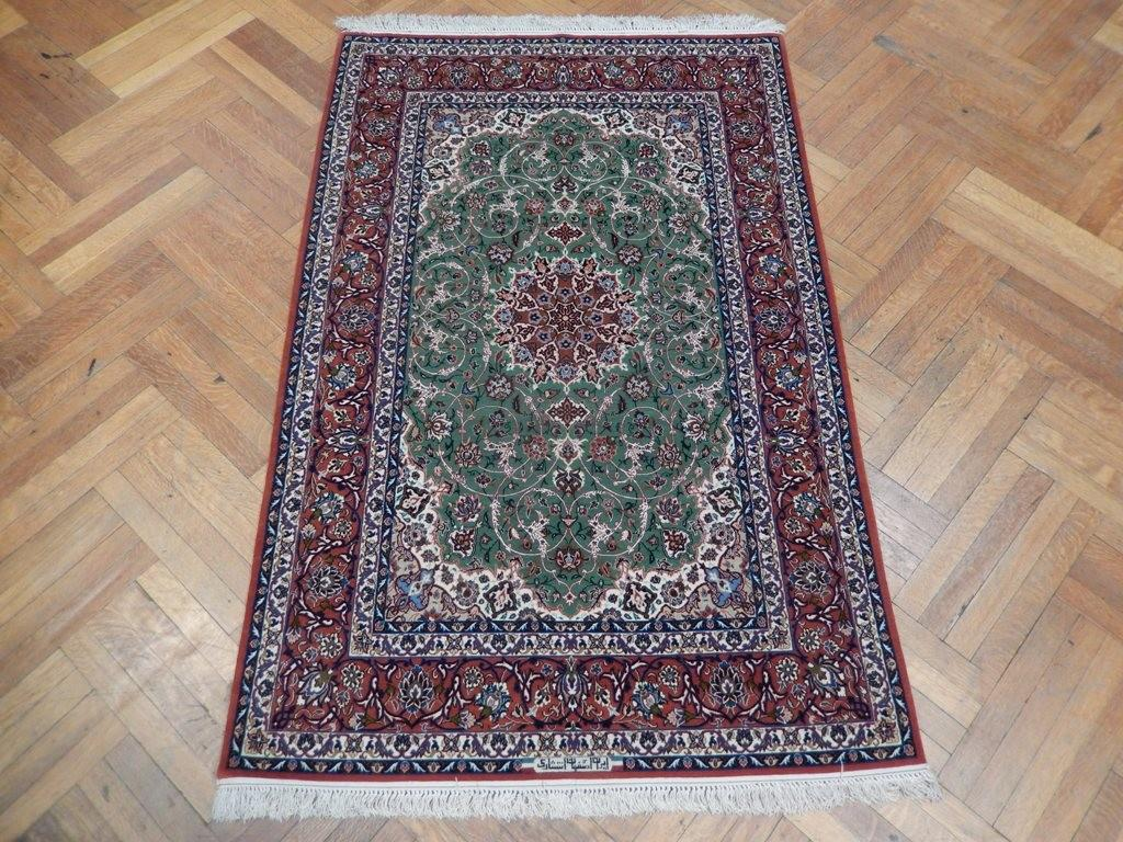 Signed High End Isfahan Quality Wool Rug Kps500