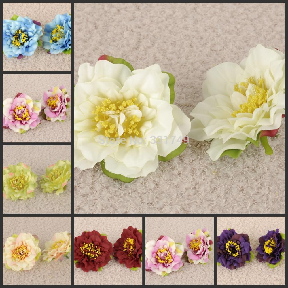 Silk Flowers Hair Crafts Ideas