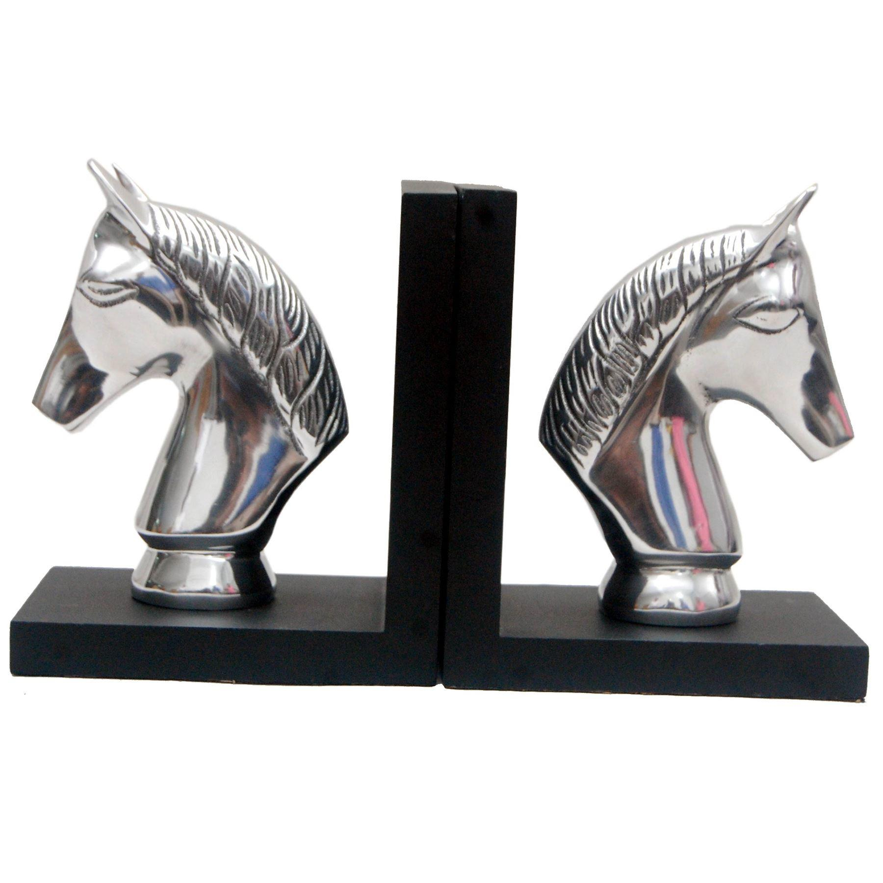 Silver Finish Metallic Bookend Shabby Chic Books Shelving