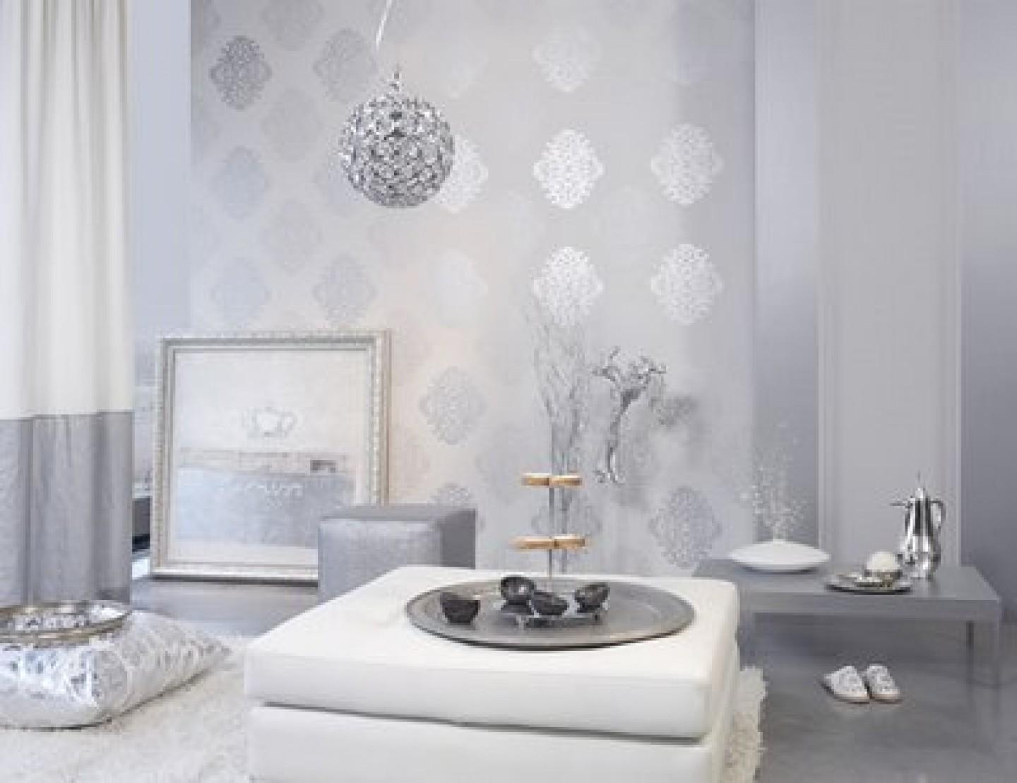 Silver White Living Room Ideas Indelink